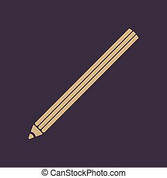 The pencil icon. Pencil symbol. Flat. - The pencil icon....