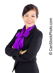 Asian Business woman - Smiling Middle Aged Asian Business...