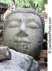 Buddha image - The Buddha image it\\\'s in the ancient city.