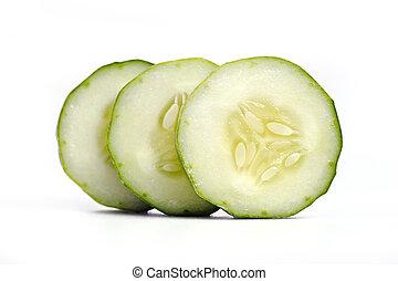 Fresh cucumber isolated on white background - Fresh cucumber...