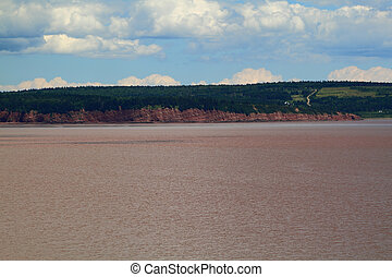 Typical coast line of Bay of Fundy, NB - Typical eroded from...