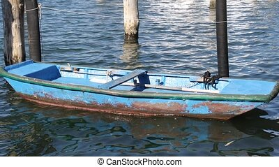 old wooden boat in the harbor