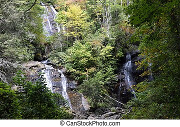 Anna Ruby Falls at Unicoi State Park, Helen, Georgiia