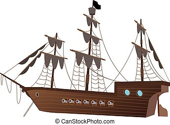 Sailing Ship / Vintange Ship Illustration