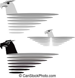 Eagle. Vector format - Eagles set. Vector EPS10...