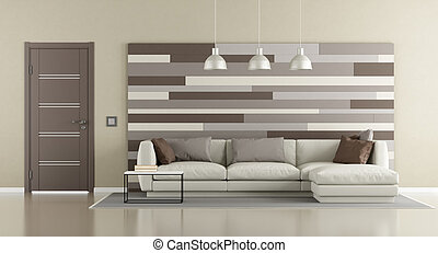 Brown and beige modern lounge