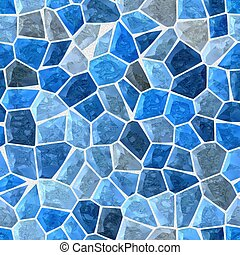 blue colored abstract marble irregular plastic stony mosaic...
