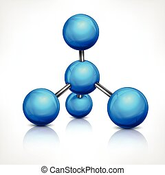 Molecule in blue on white