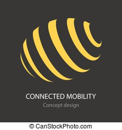 Connected mobility busines icon concept design