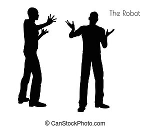 The Robot pose on white background - EPS 10 vector...