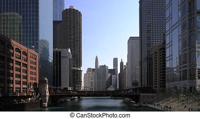 The Chicago Riverwalk on a fine day - Chicago Riverwalk on a...