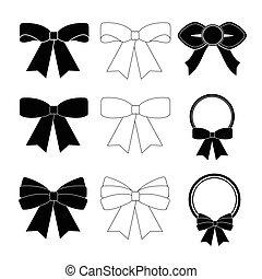 白色, 弓, 黑色, 彙整