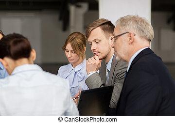 會議, 事務, 辦公室, 人們