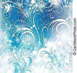 Background of frosty pattern - Background of frosty winter...