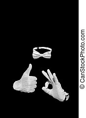 Invisible man figure - Thumbs up. Invisible man figure is...