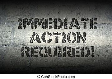 action required GR - immediate action required exclamation...