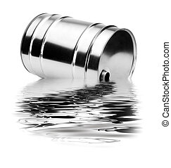 Oil pollution - A container that disperses toxic waste in...