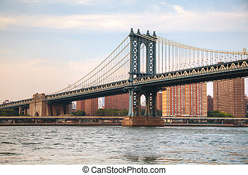 Manhattan bridge in New York City