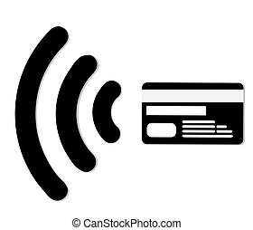 Credit Card shopping - Internet shopping.Contactless credit...