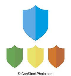 Shield icon. Vector illustration.