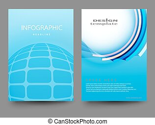 Report Handout Vector - Brochure Design Template.Vector...