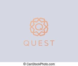 Premium letter Q logo icon vector design. Luxury jewelry frame gem edge logotype. Print monogram initials stamp sign symbol.