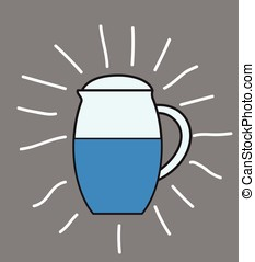Jug Vector - Water Jug Vector Illustration