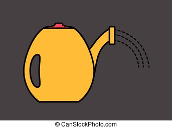 Watering Can Vector Illustration