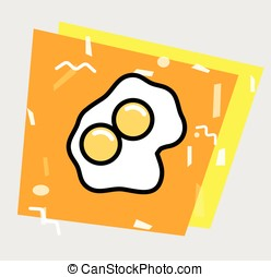 Egg Yolk Vector Background