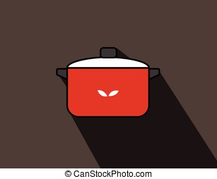 Casserole Kitchen Utensil Vector Illustration