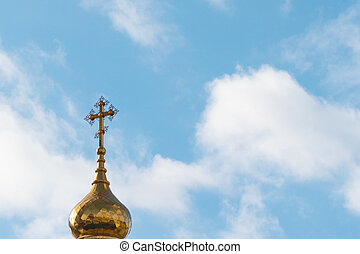 Dome of church with a cross
