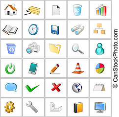 3d icon set - An illustration of general 3d icon set.
