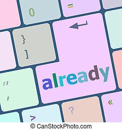 already word on computer keyboard key, online education