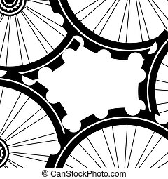 Vélo, roues, fond, modèle, modèle, de, Vélo, roues