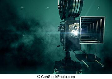 filme,  retro, projetor