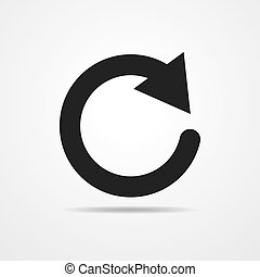 Update icon. Vector illustration. - Update icon in flat...