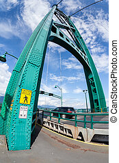 Lions Gate Bridge in Vancouver, BC, Canada - Opened in the...