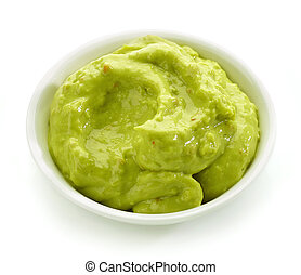 bowl of guacamole sauce