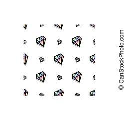 Background fashion diamond style pixel art seamless pattern....