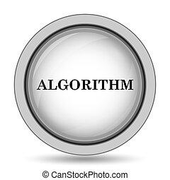 Algorithm icon. Internet button on white background.