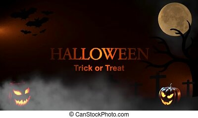 Halloween Trick or Treat - Halloween Spooky Video Animation...