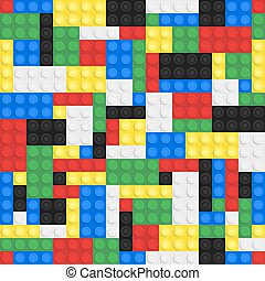 Toy Building Bricks Background - Plastic toy building bricks...