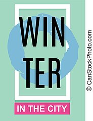 Winter Banner, Poster, Flyer A4. abstract vector illustration