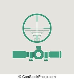Scope icon. Gray background with green. Vector illustration.