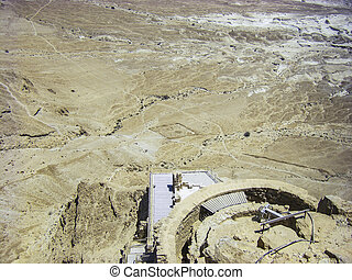 Negev desert - View from Masada - Negev desert - View from...