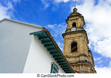 Looking up at a Cathedral - Looking up at the cathedral in...