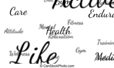 Health words background loop with matte