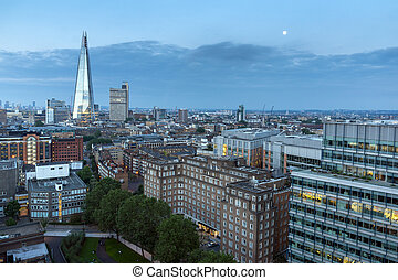 skyline of city of London - Panoramic Sunset skyline of city...