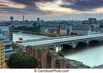 skyline of city of London - Sunset skyline of city of London...
