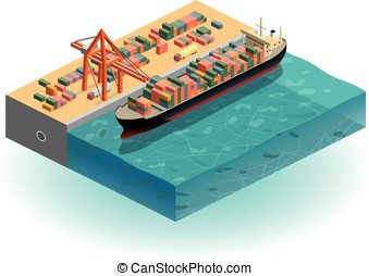 harbour - isometric harbour